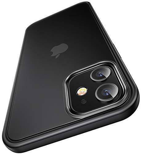 【Humixx】 iPhone12 mini 用ケース 超耐衝撃 【2021最新型】 側面滑り止め 米軍MIL規格取得 全面保護 半透明 マット加工 Magsafe充電対応 黄ばみなし レンズ保護 高級感 5.4インチ対応[Shockproof Series] (マット・ブラック)