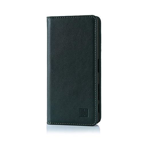32nd Classic Series - Funda Tipo Libro de Piel Real para Sony Xperia X, Carcasa de Cuero Premium diseñada con Cartera, Cierre Magnetico y Soporte Integrado - Verde Cazador