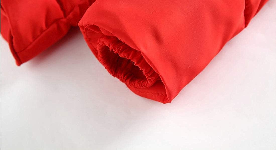Baby Girls Boys Winter Warm Jacket Hooded Snowsuit Windproof Coat Outerwear Soft Fur Hoodies FBA