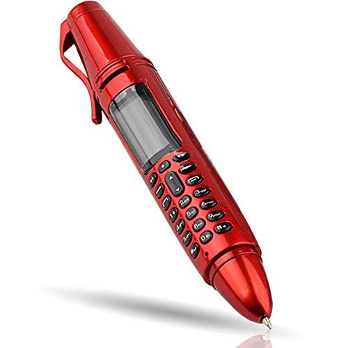Kugelschreiber-Handy, Kamera, Mini-Bildschirm, Bluetooth, Dual-SIM, Aufnahmegerät, Radio, GSM (Rot)