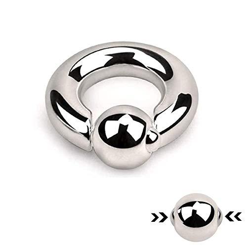 Treuheld® | Spring Loaded Klemmkugelring Piercing | BCR | Silber [11.] - 8.0 x 19 mm (Kugel: 12mm)