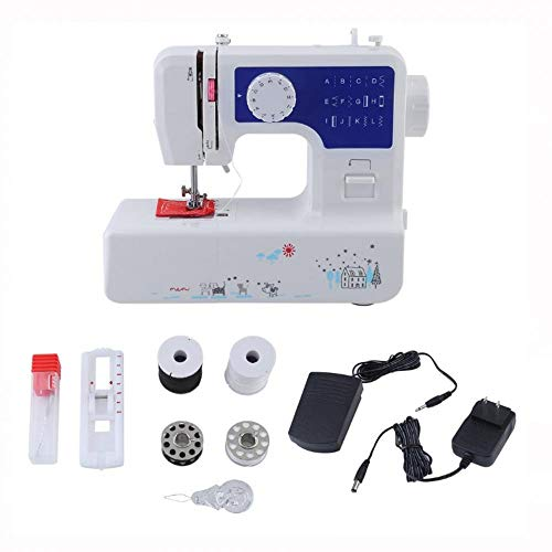 Great Price! Mini Portable Family Multifunction Sewing Machine Plastics Lightweight for Home (White ...