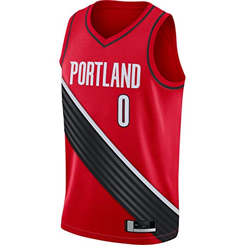 BFDEZ Portland Lillard - Camiseta de baloncesto para hombre, diseño de damian, color rojo