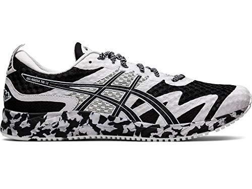 ASICS Men's Gel-Noosa Tri 12 Running Shoes, 10.5M, Black/White