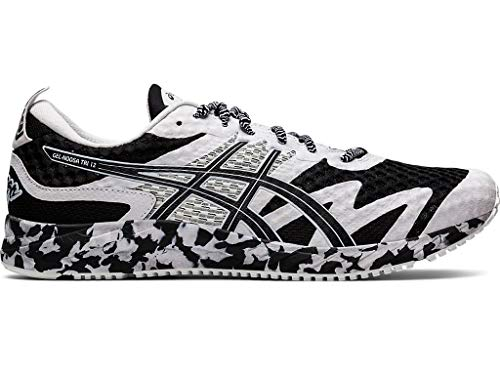 ASICS Men's Gel-Noosa Tri 12 Running Shoes, 11.5M, Black/White