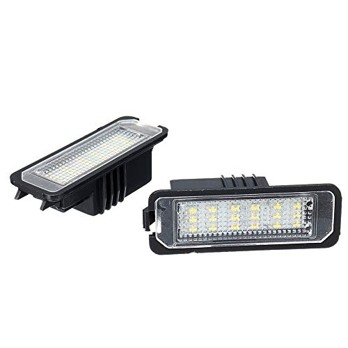 GZCRDZ® 2 luces LED para matrícula de Golf 4/5 Passat 3C Limo Lupo Polo 9N cable universal Auto Car Signal Lamp
