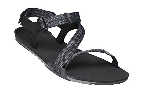 Xero Shoes Z-Trail - Men's Lightweight Hiking and Running Sandal - Barefoot-Inspired Minimalist Trail Sport Sandals - Multi-Black