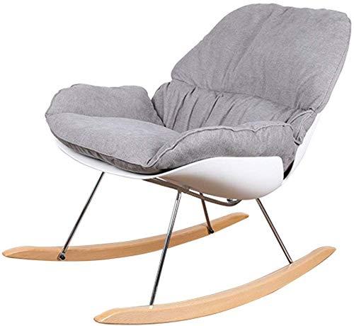 QTQZDD huishouden verdikt katoen kussen metalen bank poten stabiele montage vrije tijd schommelstoel, 12 kleuren (kleur: K, grootte: 98x69x89 cm) 12 12