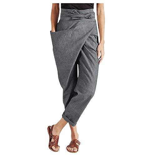 Mujer Casual Suelto Cintura Alta Encaje Sólido Un Bolsillo Lateral Cómodo Pantalones Mujer Fitness Corto Malla Caliente Empalme Slim