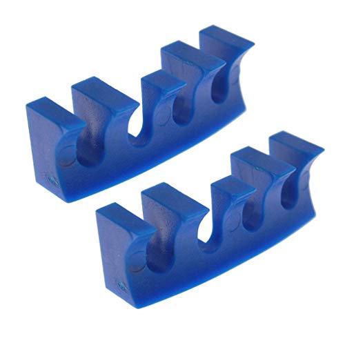 Karrychen - Protector de Adaptador de esparcidor de Carga de Raqueta, 2 Piezas, Color Azul