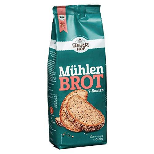 Bauckhof Sieben-Saaten-Mühlenbrot-Backmischung, glutenfrei (500 g) - Bio