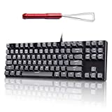 VELOCIFIRE M87 Mac Layout Mechanical Keyboard with Red 3 in 1 Keycap Puller