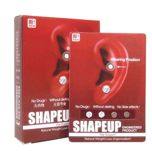 Frauen Männer Abnehmen Ohrring Unisex Magnet Ohrstecker Ohrring Akupunktur Massage Akupunktur Ohr Magnetische Abnehmen Ohrringe - Weiß
