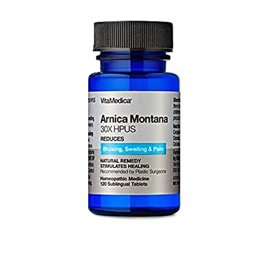 VitaMedica Arnica Montana 30X HPUS Tablets, 120 Tablets, Physician-Formulated Homeopathic Medication for Bruising and Swelling Post Surgery