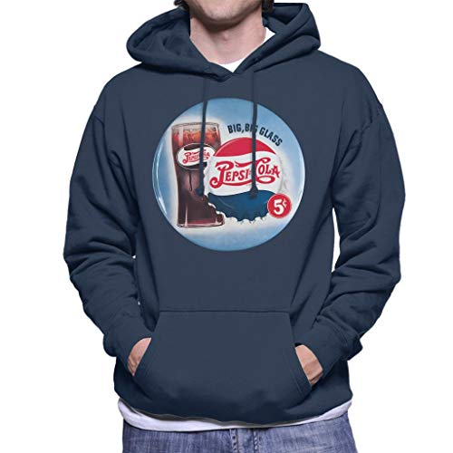 Pepsi Cola Retro Big Glass Men's Hooded Sweatshirt