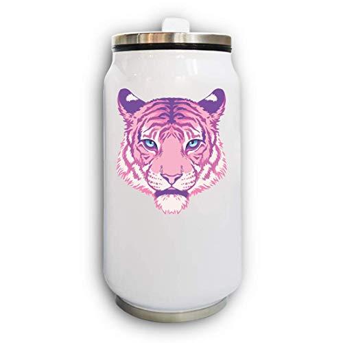 Iprints Minimalistic Cartoon Tiger Head Thermische Beverage Can thermoskan