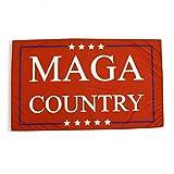 TG,LLC Treasure Gurus Red MAGA Country Flag President Donald Trump Make America Great Again Yard Banner