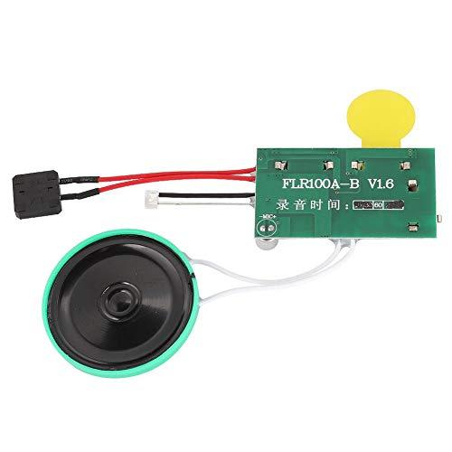 ASHATA Soundmodul Gruß-Modul,Wiederbespielbarer Stimm Soundaufzeichnungschip DIY Grußkarte,60 Sekunden Aufnahme Sound Chip Modul Musik Audio Karten für Geschenkbox/DIY-Grußkarten