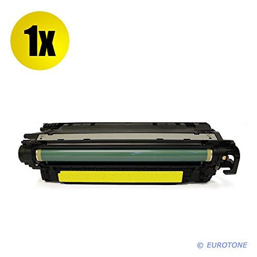Eurotone Toner mit 50% mehr Leistung für Color Laserjet CM-3530 CP-3525 ersetzen HP 504A gelbe CE252A