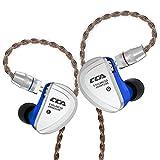 HiFi in-Ear Earphones,CCA- C16 IEM Earphones/Headphones 8 Balanced Armature Units Per Side,Zinc Alloy Shell Custom Made Sound Performance for Musician Audiophile with Detachable Cable(NO MIC)