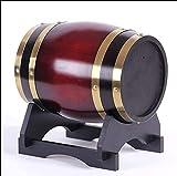 WSVULLD Dispensador de bebidas con soporte de cubo de whisky de madera del grifo, dispensador de agua de la vendimia del barril de roble, adecuado para almacenar su propio whisky brandy cerveza tequil