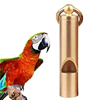 Bennyue ホイッスル 鳥トレーニング 鳩トレーニングツール 超音波ホイッスル 鳥用品 インコ 合金 トレーナーリング付き
