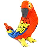 Miguelita The Macaw - 14 Inch (Tail Measurement Not Included) Large Parrot Stuffed Animal Plush Bird - by Tiger Tale Toys