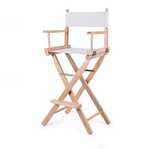 Portable Klappstuhl für Outdoor Bar Canvas Zurück Hohen Stuhl Regie Stuhl Größe 53,5X40X115,3 cm LI Jing Shop (Farbe : Weiß)