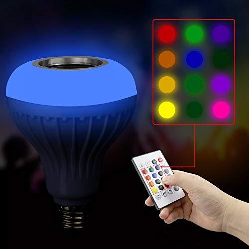 yuandp MusicLed-Glühbirne mit Bluetooth-Lautsprecher Integrierter RGB-Audiolautsprecher
