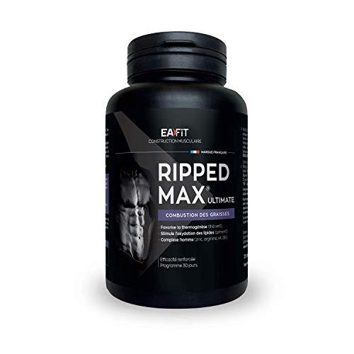 EAFIT Ripped Max Ultimate - Brûleur de Graisses 120 Comprimés - Prog. 1 mois - Oxydation des...