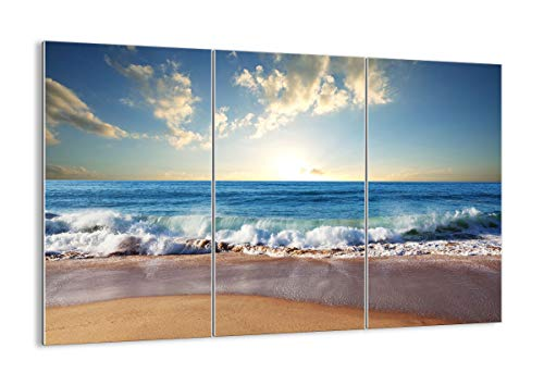 Quadro su Vetro - Tre 3 Tele - Larghezza: 165cm, Altezza: 110cm - Numero dell'immagine 3551 - Pronto da Appendere - Elementi Multipli - Arte Digitale - Moderno - Quadro in Vetro - GCE165x110-3551