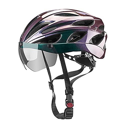 WANGFENG Casco de Ciclismo Aprobado por Dot/ECE Gafas Gafas Una Bicicleta Masculina y Femenina Bicicleta de Carretera Equipo de Motocicleta de montaña Sombrero de Seguridad