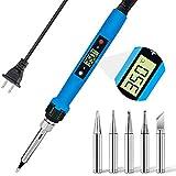 Soldering Iron, Electronics Soldering Kit, Soldering Iron Kit with LCD Display, 80W Portable Soldering Gun , Auto-sleep, 6 Gear Temperature