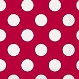 Unique Party- Dots Paper Napkins Tovaglioli di Carta in Set da 16, Rosso (Red), Confezione, 30424