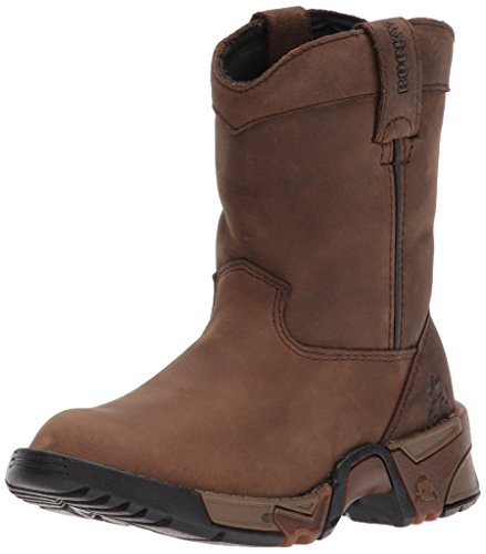 Rocky Unisex-Kid's FQ0003638 Mid Calf Boot, Brown, 3 M US Little Kid
