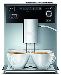 Melitta Caffeo CI Special E970-205, coffee machine with insulating milk container, two-chamber bean container, One Touch function, high gloss, stainless steel look, anthracite