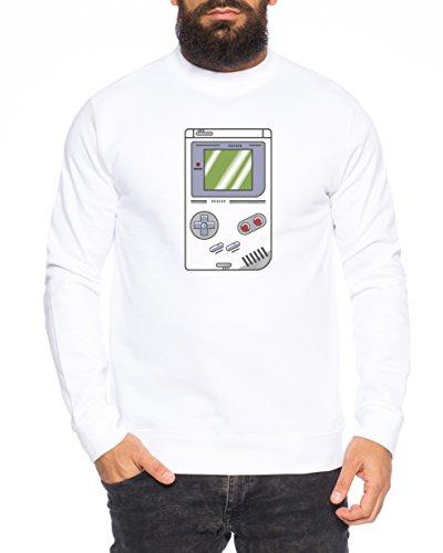 Big Gamebam Bang Nerd Theory Sheldon Gameboy Herren Sweatshirt Pullover Sweat, Größe:M, Farbe:Weiß