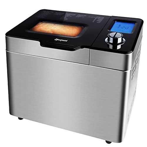 Bread Machine Maker 25-in-1 Program Setting with Raisin Dispenser, Non-stick Pan & Digital Display...