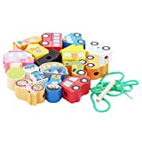 Fliyeong Bebé de madera con cuentas de aprendizaje temprano educativo niño rompecabezas de juguete niños aprendizaje cordón de bolas Toycity nuevo lanzado