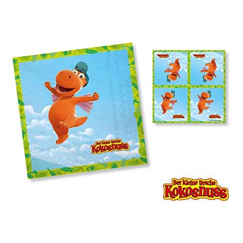 Dh-Konzept: 20 Servietten * DER KLEINE Drache Kokosnuss * für Kinderparty und Kindergeburtstag   Kinder Napkins Party Set