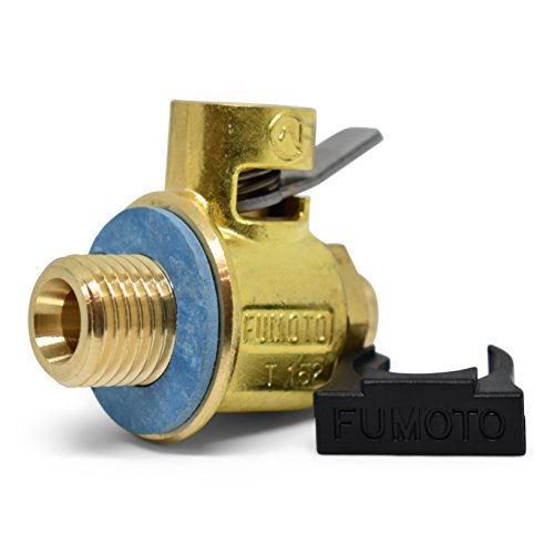 Fumoto Original F108S FS-Series Drain Valve with Short Nippple with Lever Clip, Bronze, 16mm-1.5