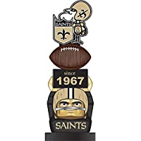 Team Sports America New Orleans Saints Vintage NFL Tiki Totem Statue