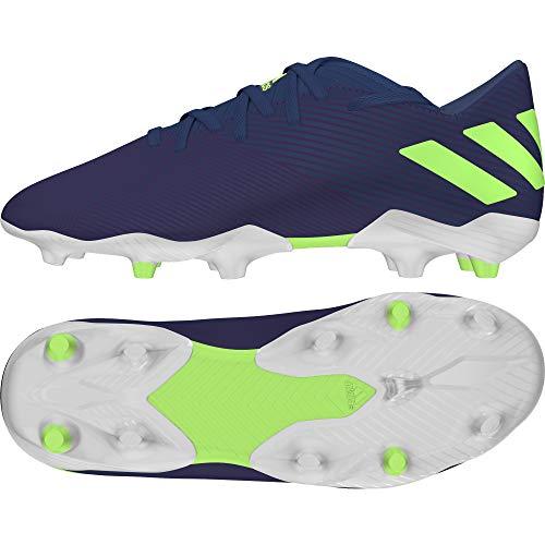 Adidas Nemeziz Messi 19.3 FG J, Zapatillas Deportivas Fútbol Unisex Infantil, Morado (Tech Indigo/Signal Green/Glory Purple)