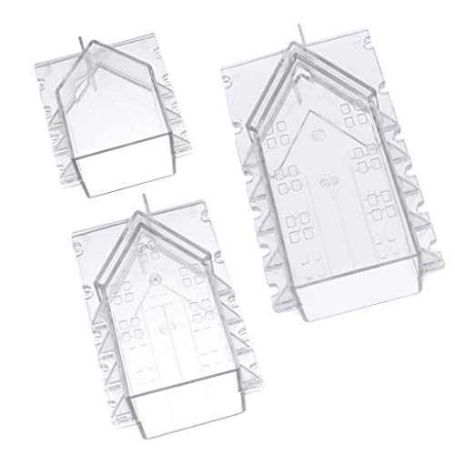 lahomia 3 Pcs House Soap Mold Candle Making Model Christmas Candle Shape for