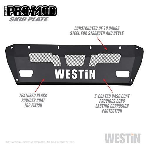 Westin 58-71165 Pro-Mod Skid Plate Textured Black E-coated Steel Pro-Mod Skid Plate