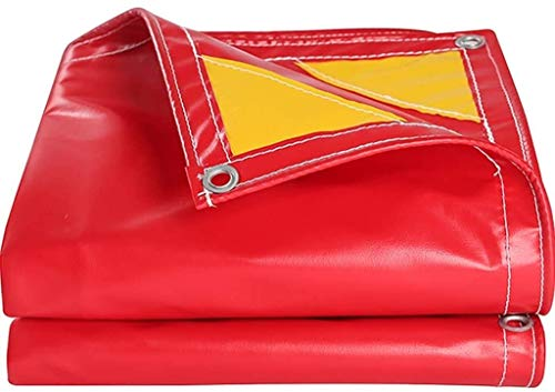 Tarp Cover Waterproof Great for Tarpaulin Canopy Tent Boat RV Or Pool Lawn Multi-Purpose Anti-Tear Cloth Cover, Awning (Color : Red, Size : 33x39.6ft/10x12m)