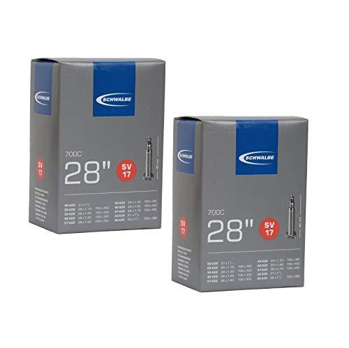 Schwalbe SV17 Inner Tubes - 700 x 28-45c / 28 27', Presta 40mm Valve (2 Pack)