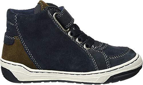 Lurchi Jungen Barney-Tex Hohe Sneaker, Blau (Atlantic Brown), 33 EU