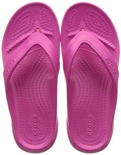 Crocs Unisex-Kinder Classic Flip Kids Zehentrenner, Rosa (Candy Pink), 34/35 EU (J3 UK)