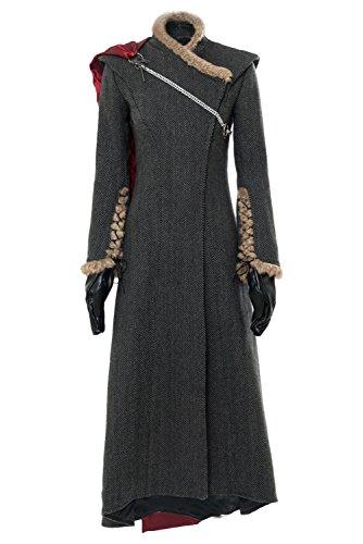 Harrypetter GoT Daenerys Targaryen Disfraz para mujer, Halloween, carnaval, madre de dragones, cosplay Dragonstone, abrigo largo